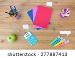 Colorful School Supplies On Th...