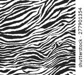 Seamless Zebra Pattern. Vector...