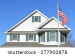 American Flag Pole Suburban...
