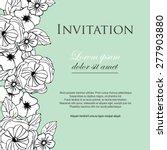 elegant romantic wedding...   Shutterstock .eps vector #277903880