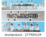 medical scientists  laboratory... | Shutterstock .eps vector #277904129
