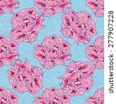 peony seamless vector pattern...   Shutterstock .eps vector #277907228