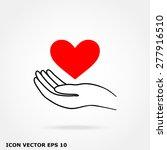 heart hand | Shutterstock .eps vector #277916510