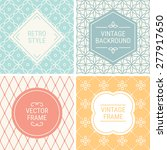 set of vintage frames in red ... | Shutterstock .eps vector #277917650