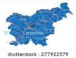slovenia map | Shutterstock .eps vector #277922579
