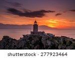 scenic old lighthouse near... | Shutterstock . vector #277923464