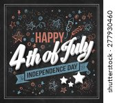 typography card independence... | Shutterstock .eps vector #277930460