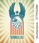 Memorial Day. Typographic Card...