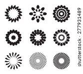 set of black geometric flowers  ... | Shutterstock .eps vector #277931489