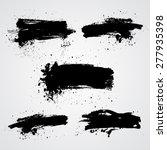 set of vector black grunge...   Shutterstock .eps vector #277935398