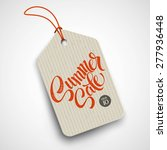 summer  sale grunge label.... | Shutterstock .eps vector #277936448