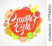 summer sale. inscription...   Shutterstock .eps vector #277936514