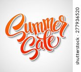 summer sale message on orange... | Shutterstock .eps vector #277936520