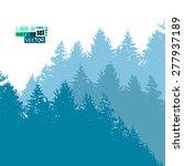 forest silhouette background....   Shutterstock .eps vector #277937189