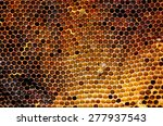 Image Of A Honeycomb In Close...