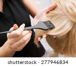 hair coloring in the salon.... | Shutterstock . vector #277946834