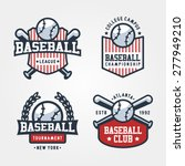 vector set of baseball badge... | Shutterstock .eps vector #277949210