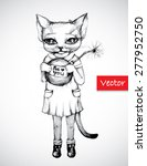 vector illustration cat with... | Shutterstock .eps vector #277952750