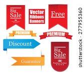 vector ribbons banners set.... | Shutterstock .eps vector #277955360