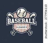 sport baseball league vintage... | Shutterstock .eps vector #277956110