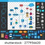 concept of building a network... | Shutterstock .eps vector #277956620