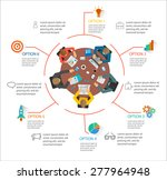 Infographic With Top View Of...