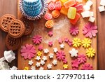 sweets and candies on a wooden... | Shutterstock . vector #277970114