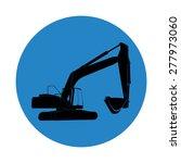 excavator work. vector... | Shutterstock .eps vector #277973060