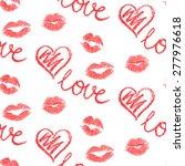 vector seamless pattern   lips...   Shutterstock .eps vector #277976618