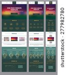 one page website template with... | Shutterstock .eps vector #277982780