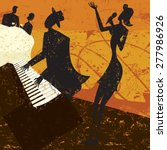 club singer a jazz club singer... | Shutterstock .eps vector #277986926