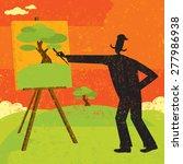artist painting an artist... | Shutterstock .eps vector #277986938