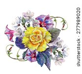 yellow rose  flower cherry ... | Shutterstock . vector #277989020