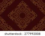 amaryllis ornate floral... | Shutterstock .eps vector #277992008