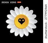 white daisy flower. flat design ... | Shutterstock .eps vector #277992464