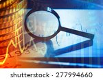 business concept. magnifying... | Shutterstock . vector #277994660