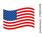 american flag vector icon | Shutterstock .eps vector #278001458