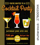 cocktail invitation card.... | Shutterstock .eps vector #278005544