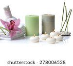 Spa Items With Lilac Orchid On...