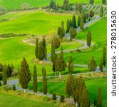 tuscany spring landscape italy | Shutterstock . vector #278015630