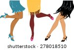 line of women wearing 1920s... | Shutterstock .eps vector #278018510