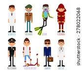 a set of people of different... | Shutterstock .eps vector #278022068
