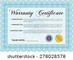 warranty certificate. very
