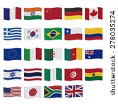 set of flags on a white... | Shutterstock .eps vector #278035274