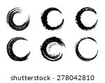 black circular brush strokes  ... | Shutterstock .eps vector #278042810