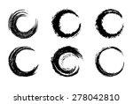 black circular brush strokes  ... | Shutterstock .eps vector #278042810