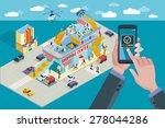 hands holding touchscreen smart ... | Shutterstock .eps vector #278044286