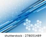 abstract shape and mesh with... | Shutterstock .eps vector #278051489