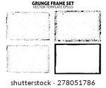 grunge frame texture set  ... | Shutterstock .eps vector #278051786