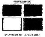 grunge frame texture set  ... | Shutterstock .eps vector #278051864